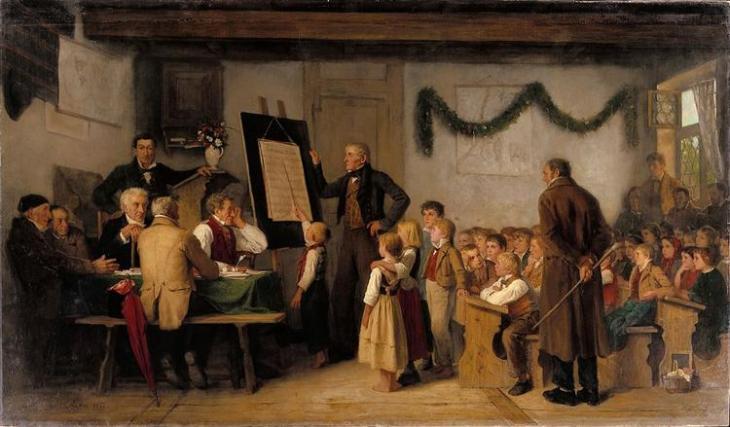 Σχολική εξέταση Albert Anker 1862