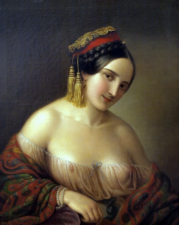 Ελληνίδα Γυναίκα - Η σύζυγος του καλλιτέχνη Jakab Marastoni - 1850