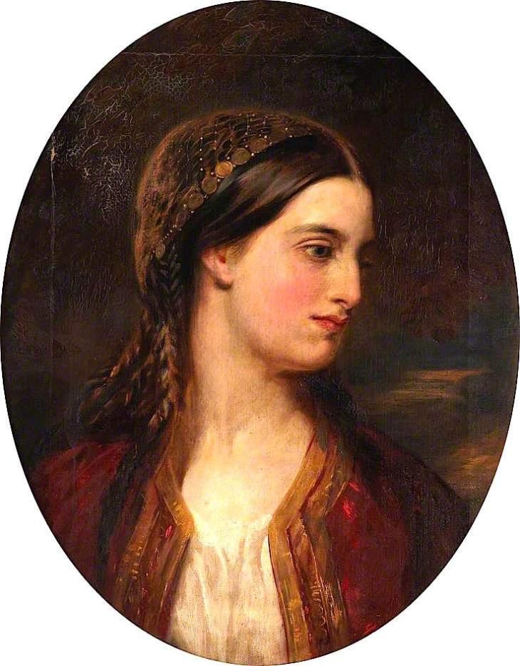 πορτρέτο Ελληνίδας John Ballantyne - 1860