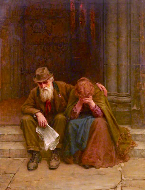 τα νέα του πολέμου - Louisa Starr Canziani - 1900