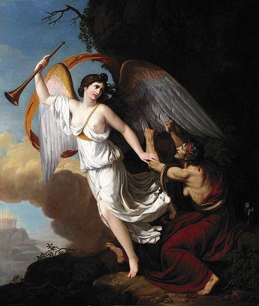 Ο Φθόνος μαδά τα φτερά της Δόξας - François-Guillaume Ménageot 1806