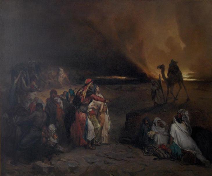 Simoon, σουβενίρ από τη Συρία - Jean-François Portaels - 1847