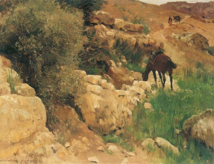 αρχαιότητες στη Συρία - Eugen Felix Prosper Bracht - 1891