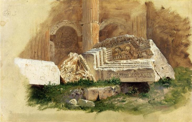 Εσωτερικό του ναού του Διονύσου, Μπάαλμπεκ, Συρία - Frederic Edwin Church - 1868