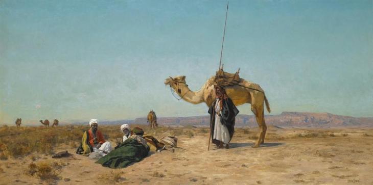 Ξεκούραση στην έρημο της Συρίας - Eugen Felix Prosper Bracht - 1883