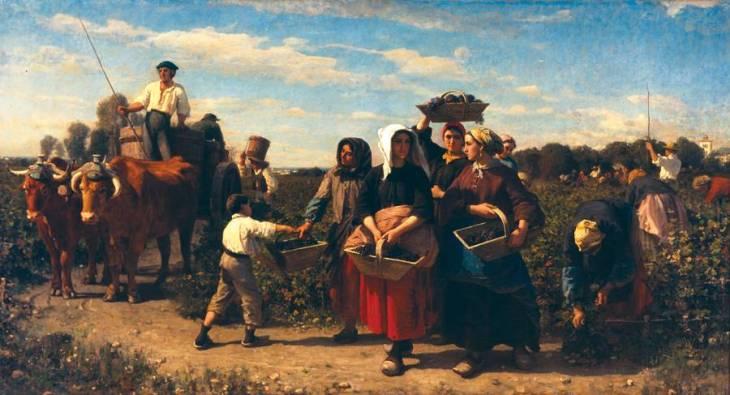 το μάζεμα της σοδειάς στο κτήμα lagrange - Jules Breton 1864