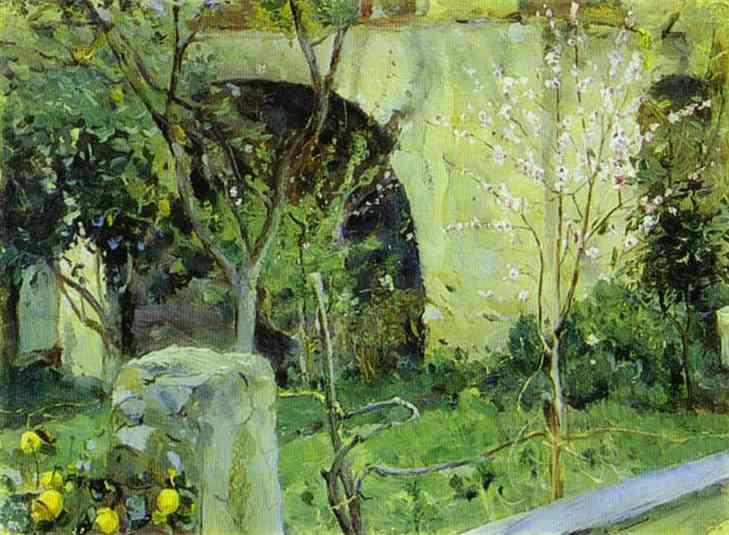 Capri. Ανθισμένη αμυγδαλιά - Mikhail Nesterov 1908