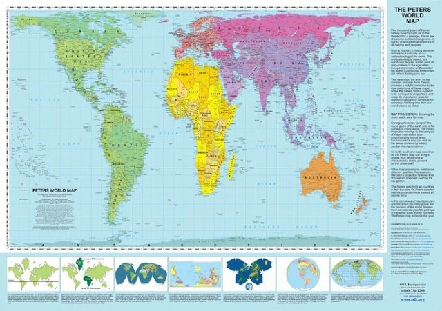 Peters-Projection-World-Map