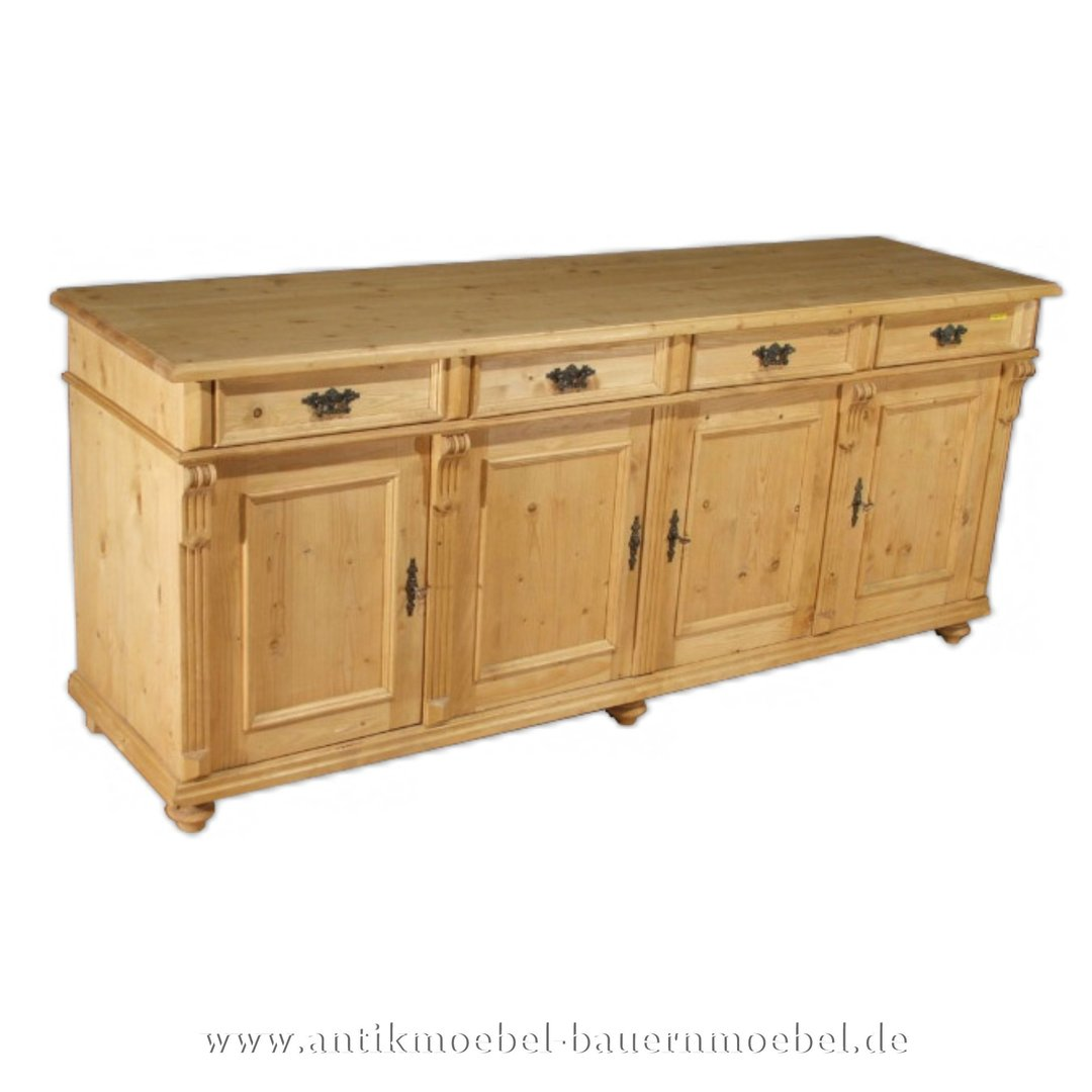 Sideboard Anrichte Highboard Massiv Viertürig Landhausstil - Highboard Erle Massiv