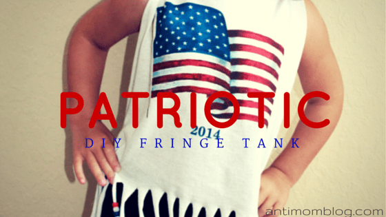 DIY: Patriotic Fringe Tank For Girls!