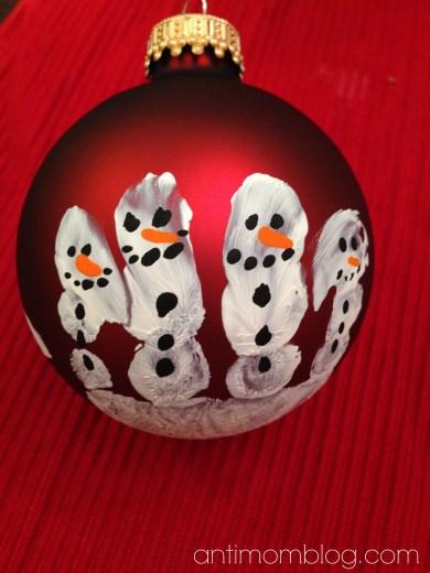 Snowmanhandprintornament