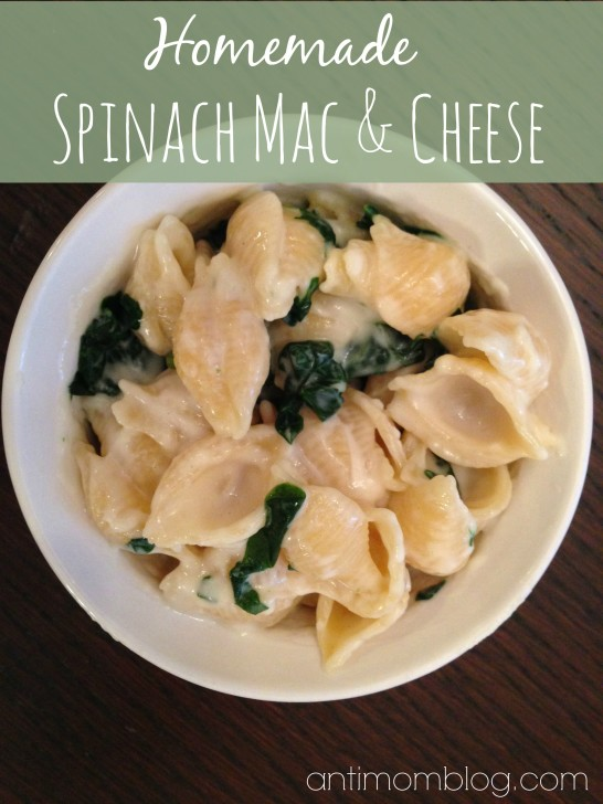 Homemade Spinach Mac and Cheese