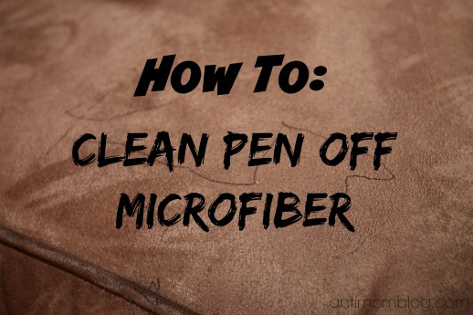 {How To} Clean Pen off Microfiber