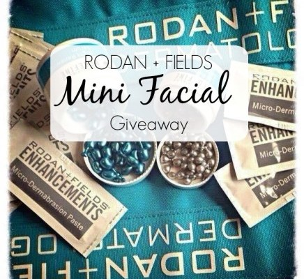 Rodan + Fields Mini Facial Giveaway