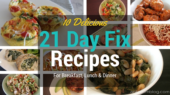 21 Day Fix Approved Recipes ~ Roundup!