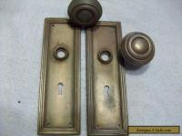 vintage metal door knobs & back plates for Sale in Canada