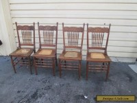 56629 Set 4 Antique Solid oak Dining room Chair s Chairs ...