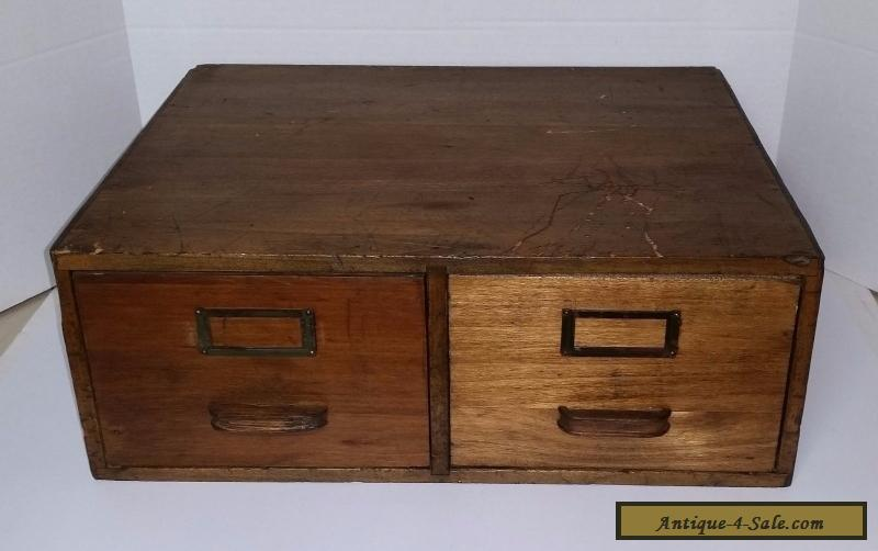 Antique Globe Wernicke 2 Drawer Library Card Index File