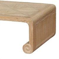 natural wood parquet top coffee table - ACF China