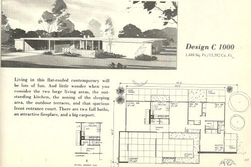 Medium Of Mid Century Modern House Plans