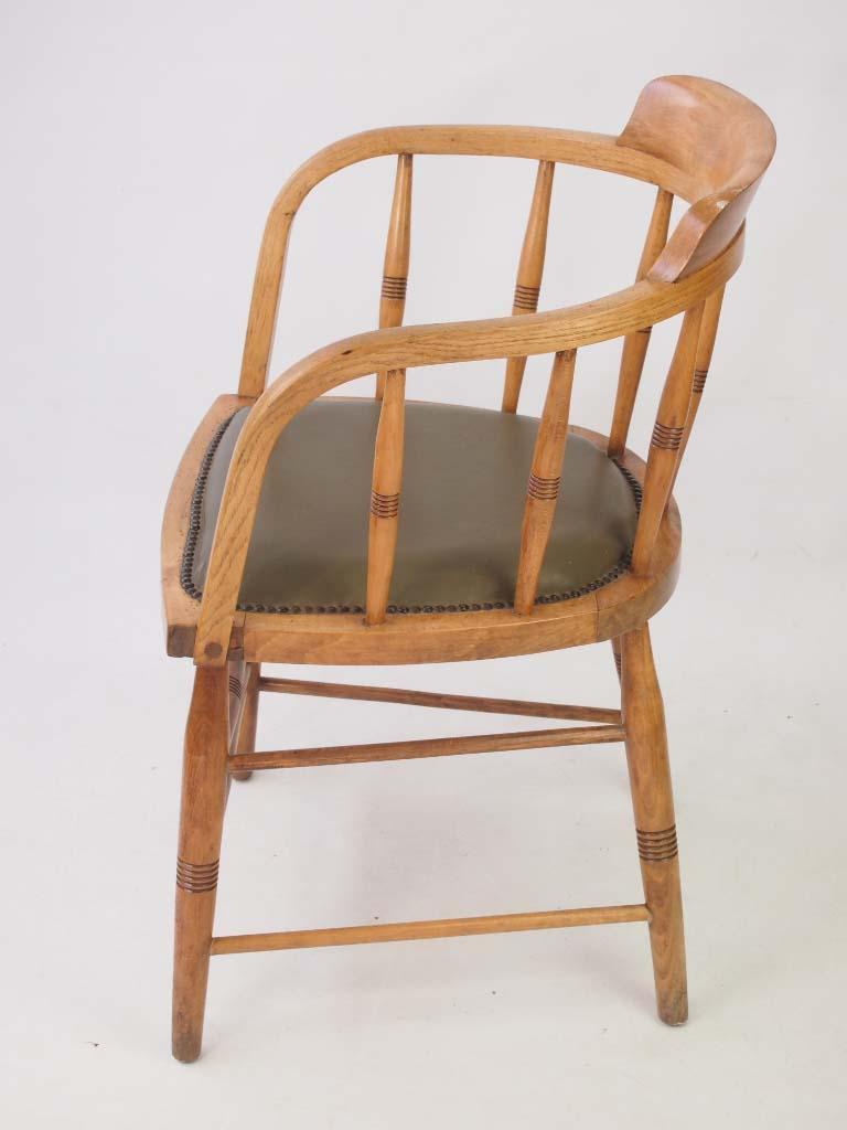 Antique Edwardian Tub Desk Chair