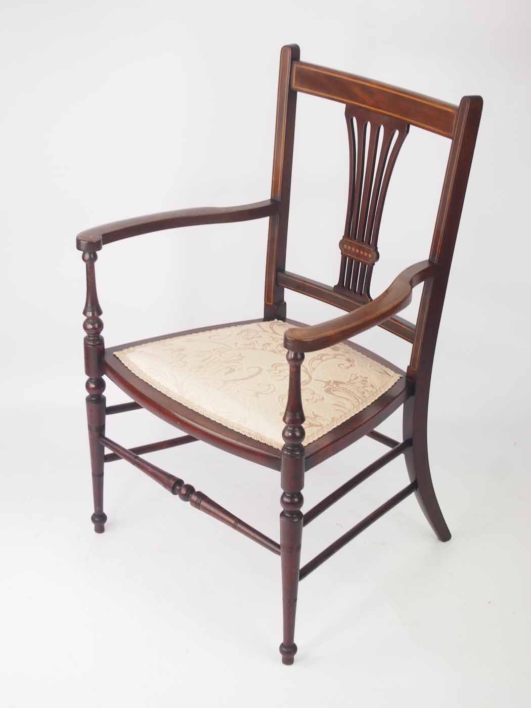 Small Armchair Small Edwardian Open Armchair Bedroom Chair