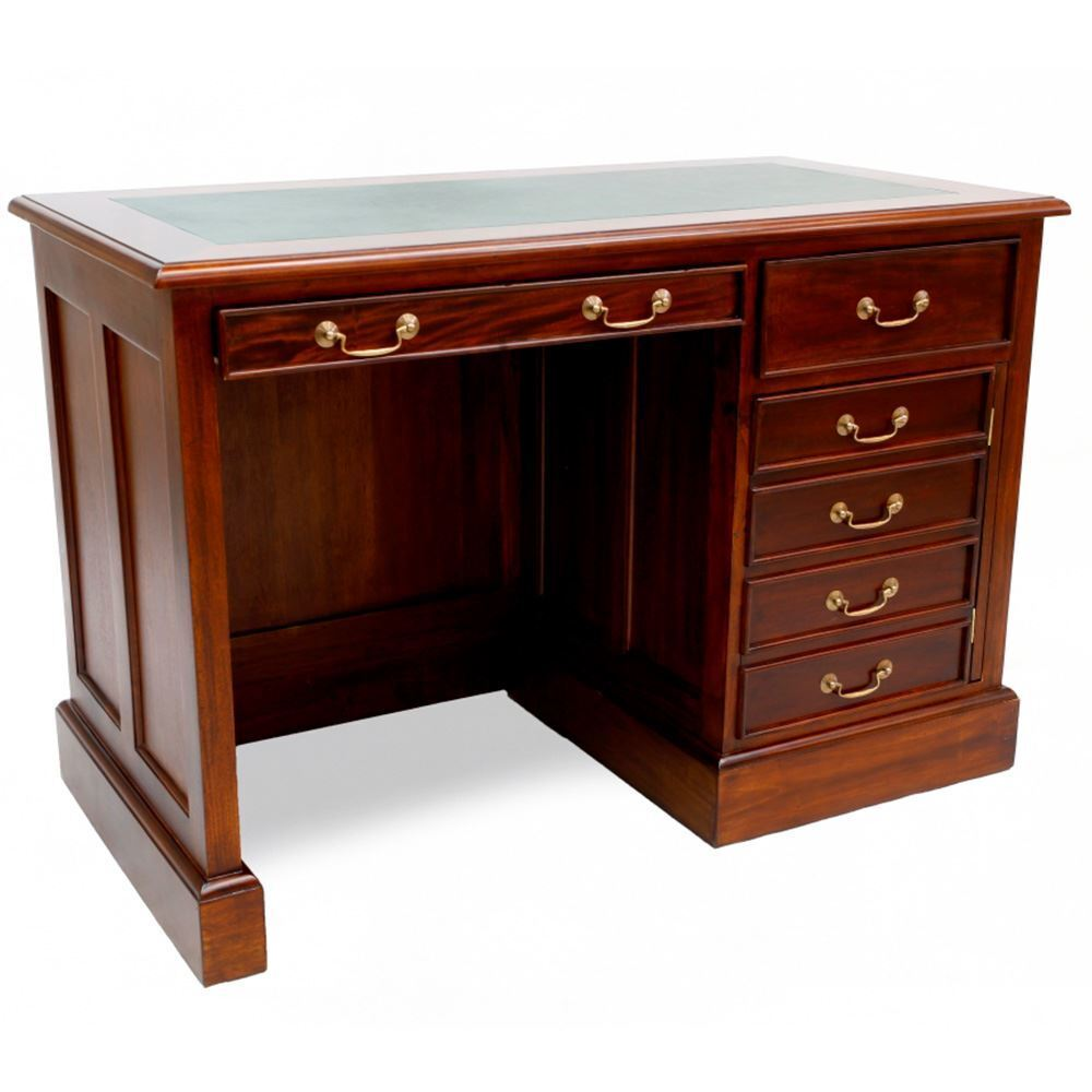 Mahogany Office Desk Solid Mahogany Home Office Pedestal Computer Desk Reproduction Design Pre Order