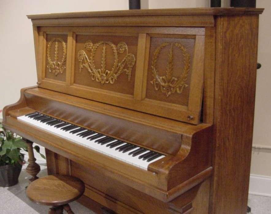 Whitney Oak Upright Piano Antique Piano Shop