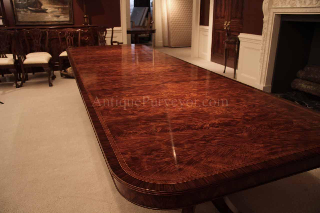 14 Foot Dining Table Flame Mahogany Dining Table For Seating 8 14 People 12