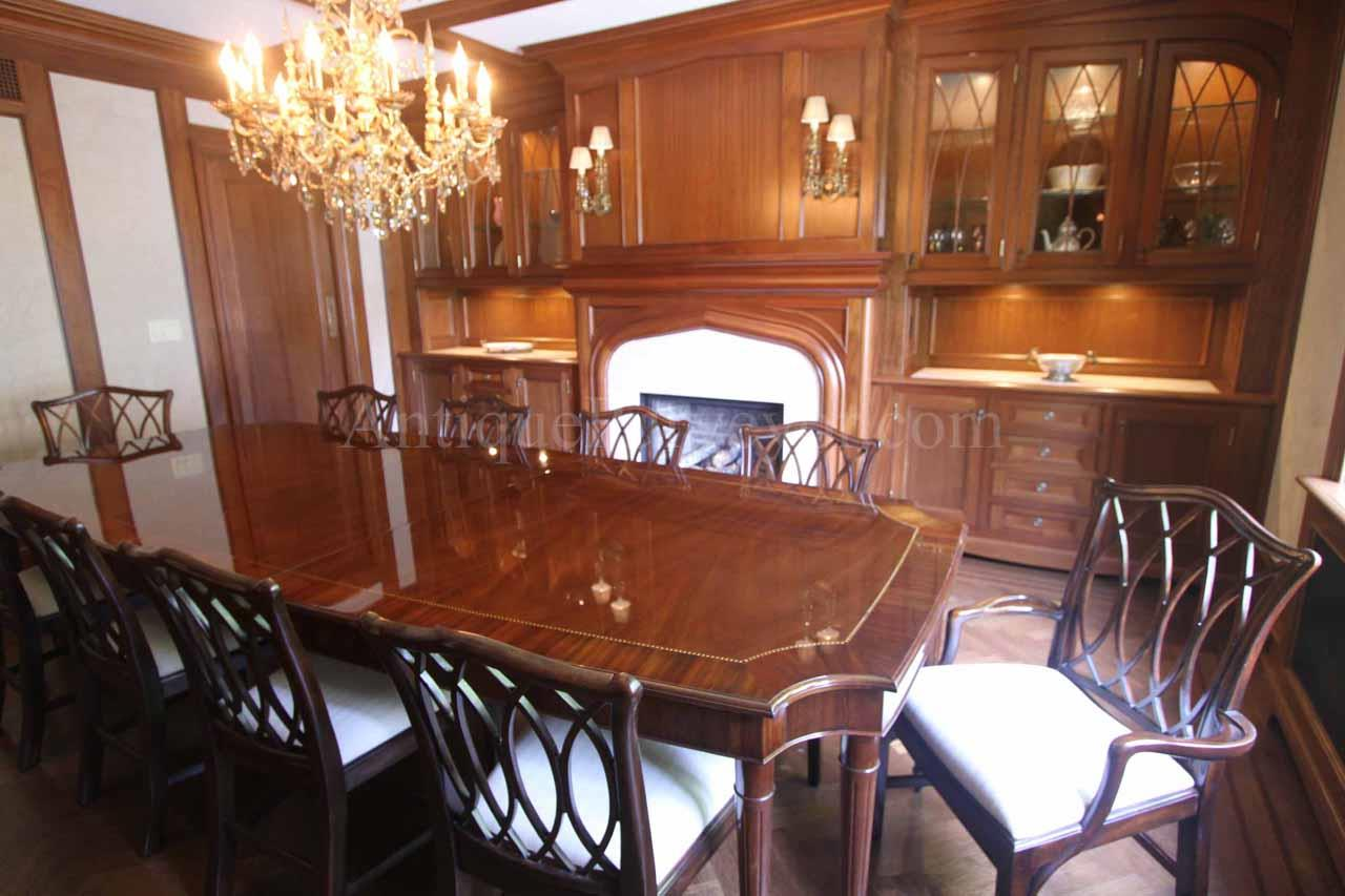 Custom American Made French Style 8 Leg Dining Table