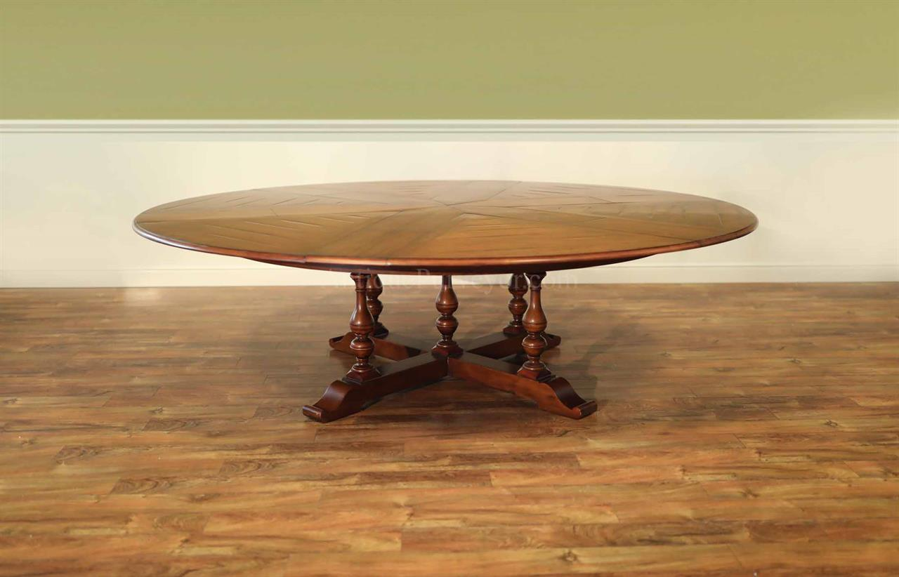 Round Table Seats 10 Jupe Table Extra Large Round Solid Walnut Round Dining Table