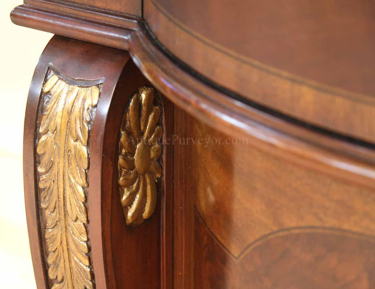Buffet Cabinet With Drawers Mahogany Sideboard With Gold Leaf Accents For The Dining Room