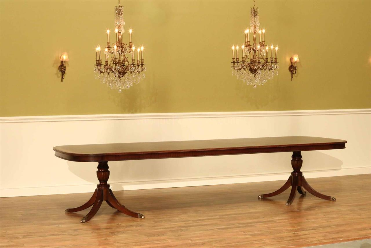 Large Dining Room Tables Seat 12 Large High End Mahogany Dining Table Seats 12 14