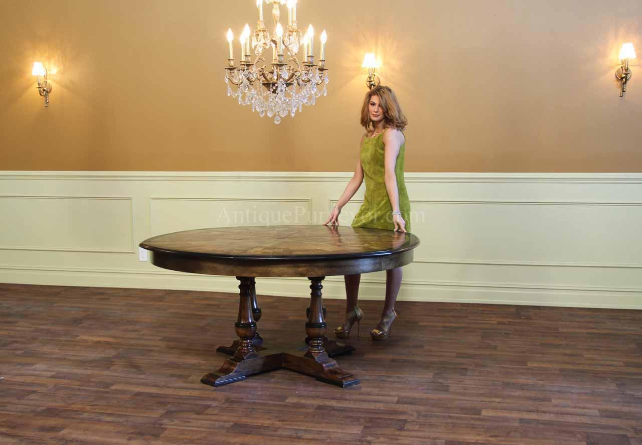 Large Dining Room Table Seats 10 Large Round Walnut Dining Room Table With Leaves Seats 6