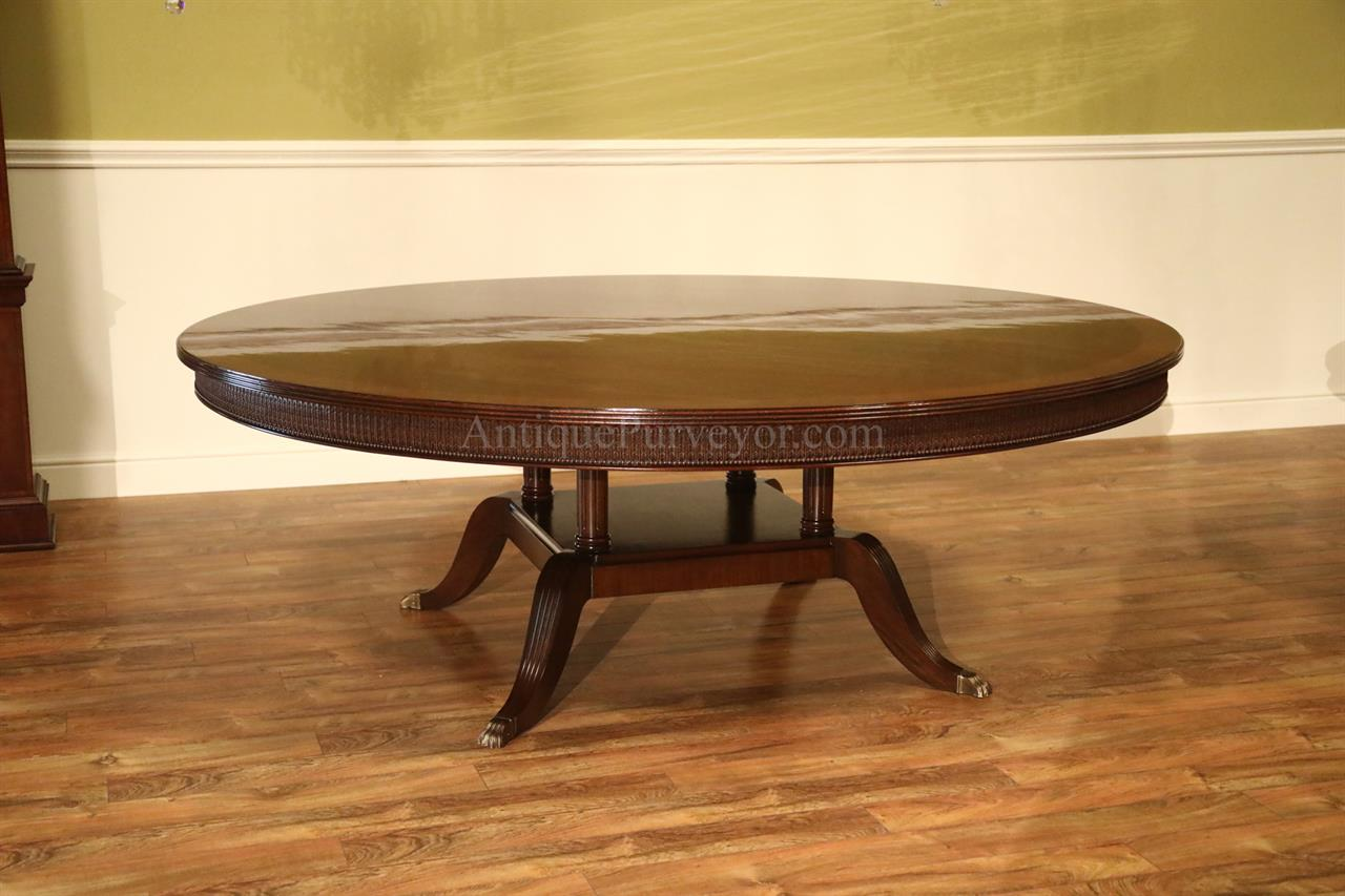 Dining Table To Seat 20 Large 84 Inch Round Mahogany Dining Room Table Seats 10