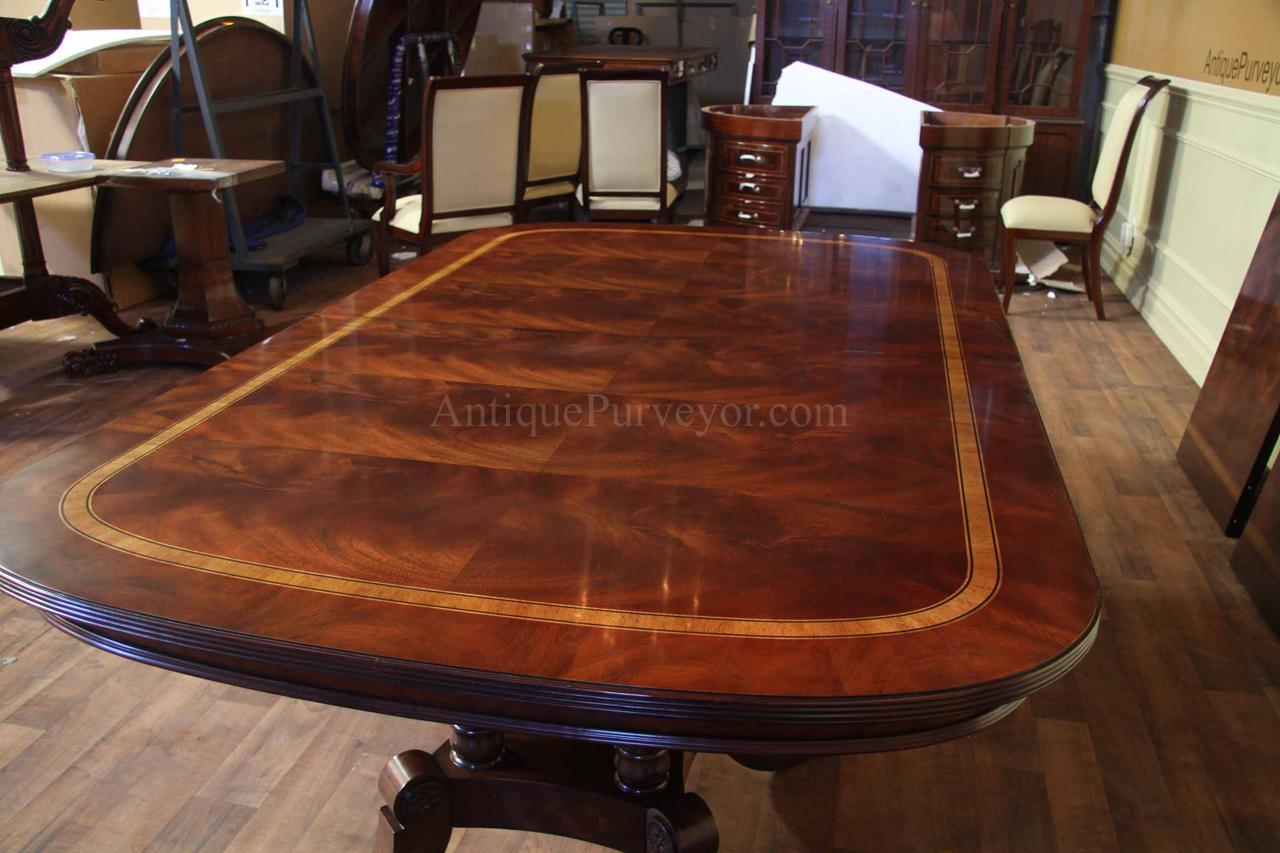 16 Seater Dining Table Large And Wide Mahogany Dining Table Seats 14 16 People Ebay