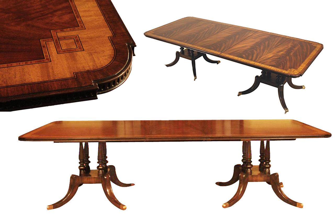 Dining Room Tables That Seat 12 Or More Mahogany Dining Table With Inlay Seats 10 12 People