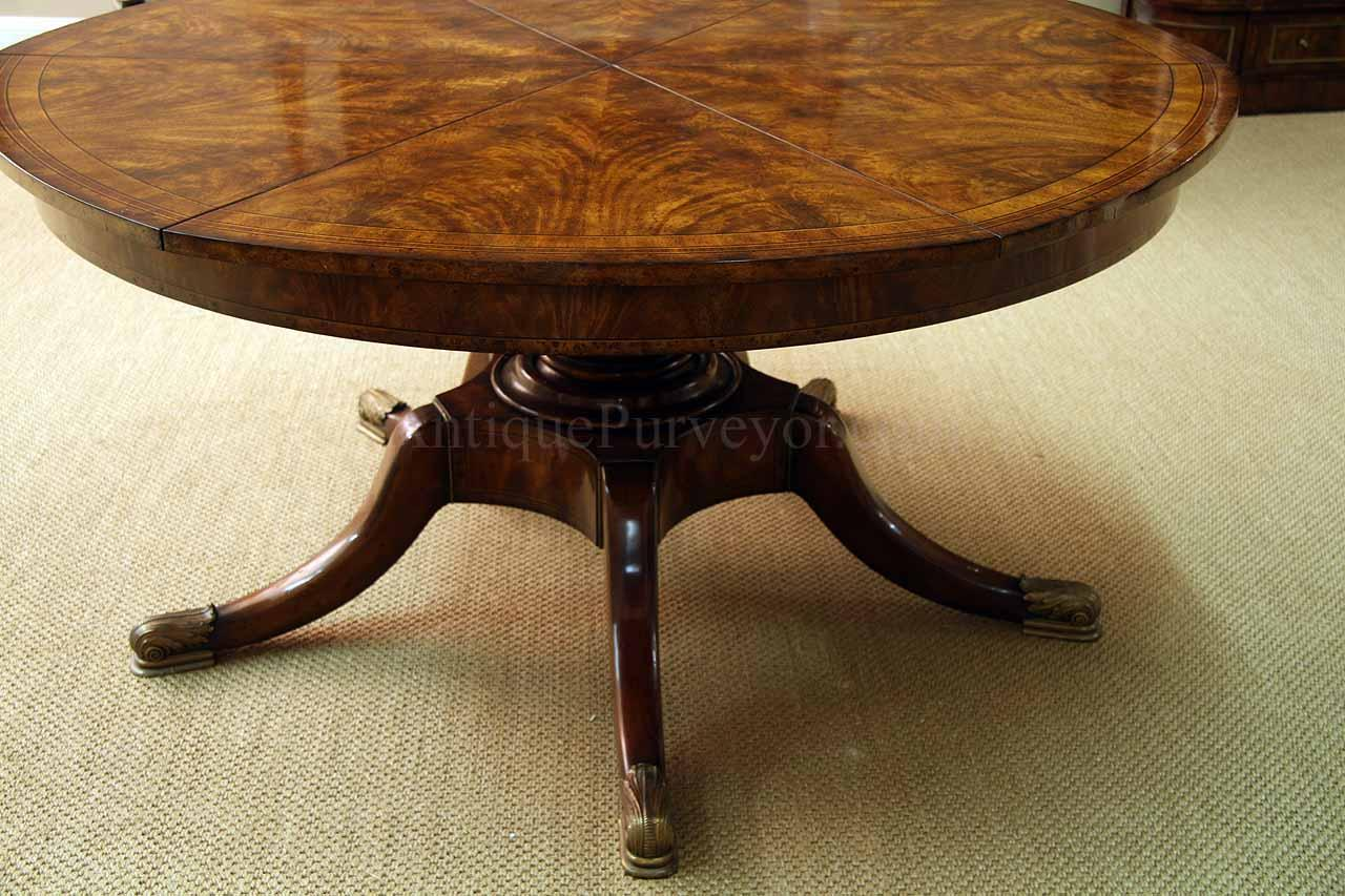 Expandable Round Dining Table For Sale Round Mahogany Jupe Table For Sale Large Round Expanding