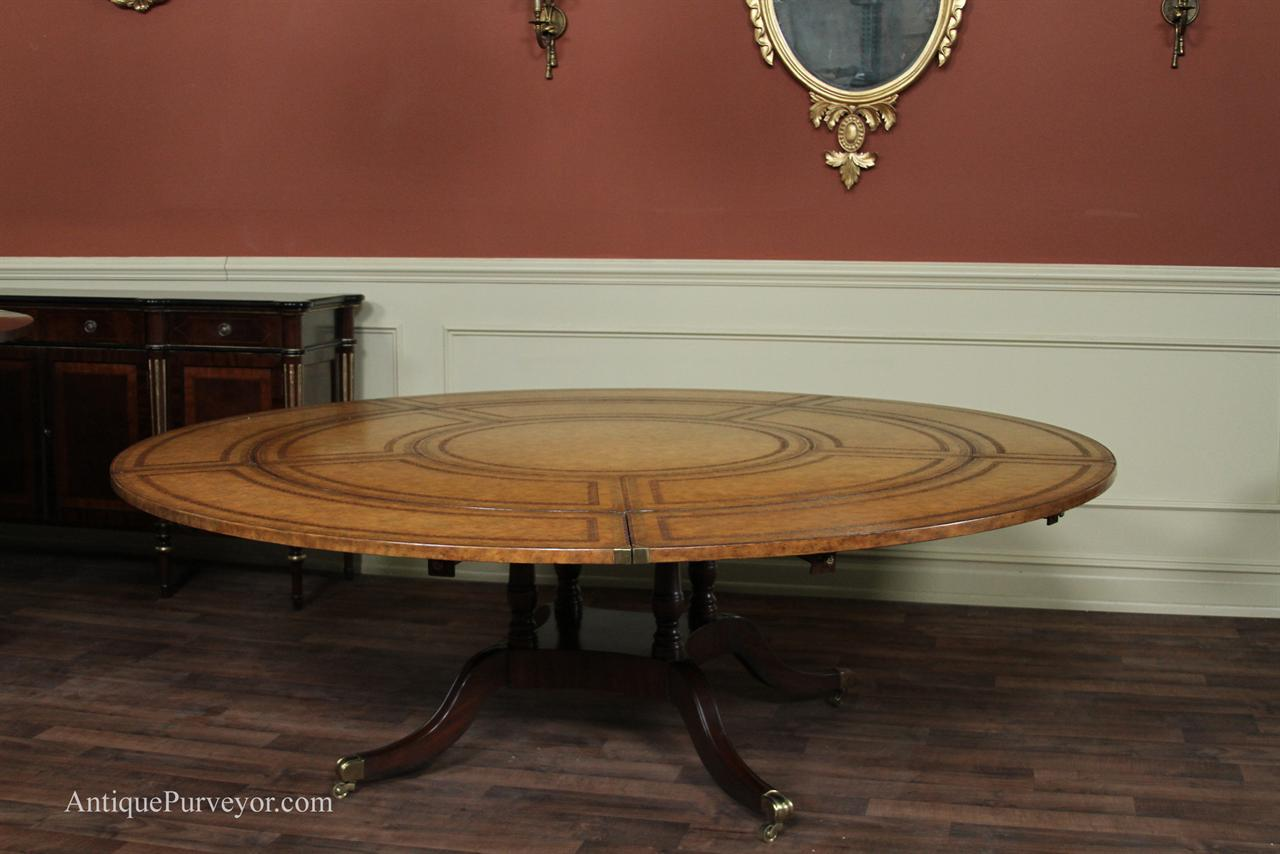 Large Dining Tables To Seat 10 Maitland Smith Leather Top Large Round Dining Table With Leaves