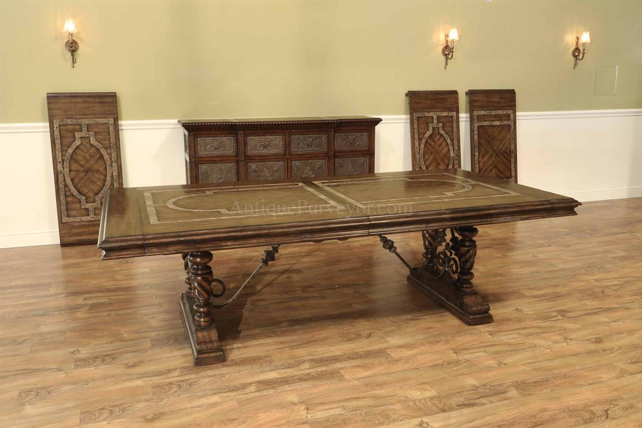 Large Dining Tables To Seat 10 Marble Inlaid Extra Large Mediterranean Or Tuscan Style Dining Table