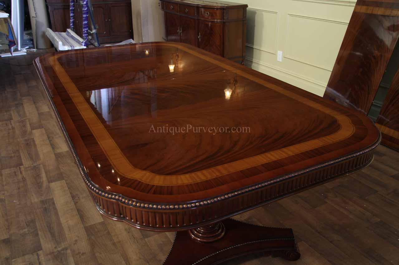 Dining Room Table Seats 10 12 Narrow Regency Style Inlaid Mahogany Dining Table Seats 10