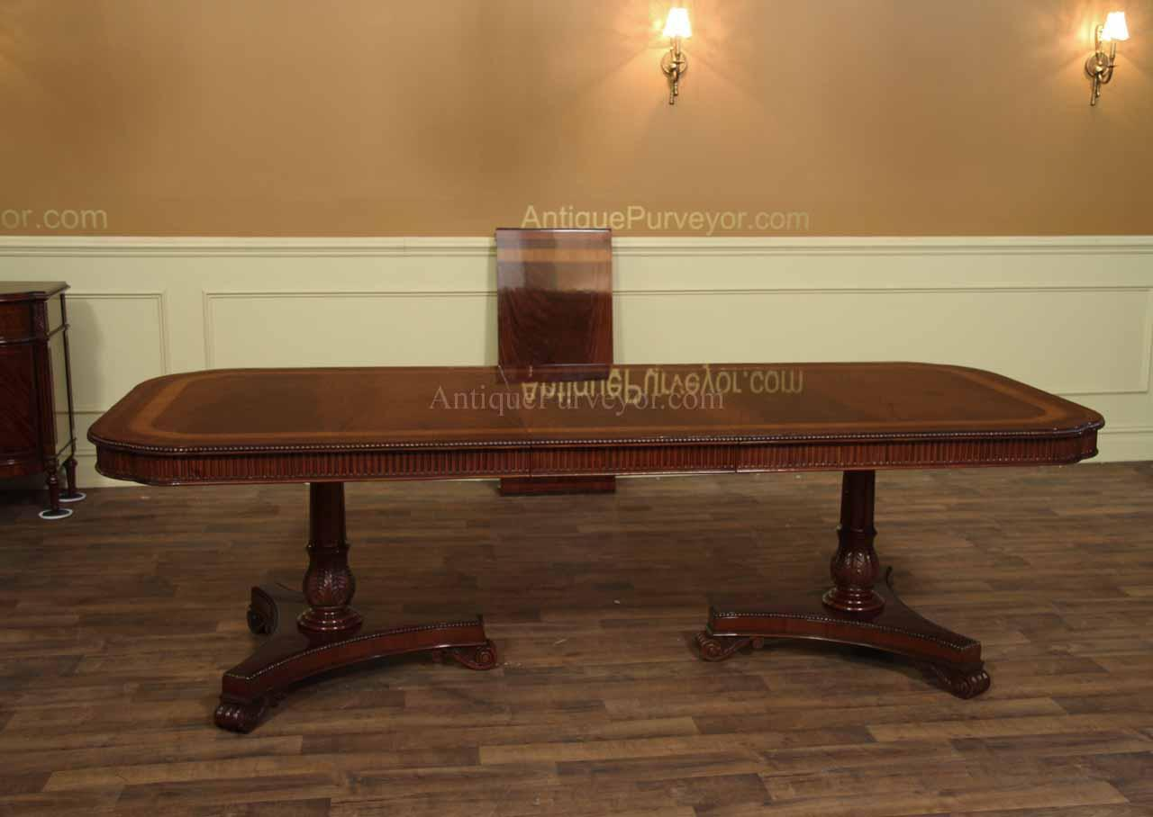 Narrow Corner Table Narrow Regency Style Inlaid Mahogany Dining Table Seats 10