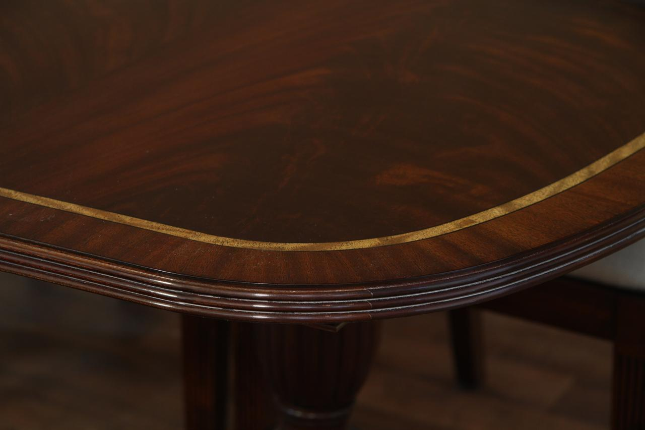 Dining Table For 10 12 New American Made Double Pedestal Dining Table Antique Reproduction