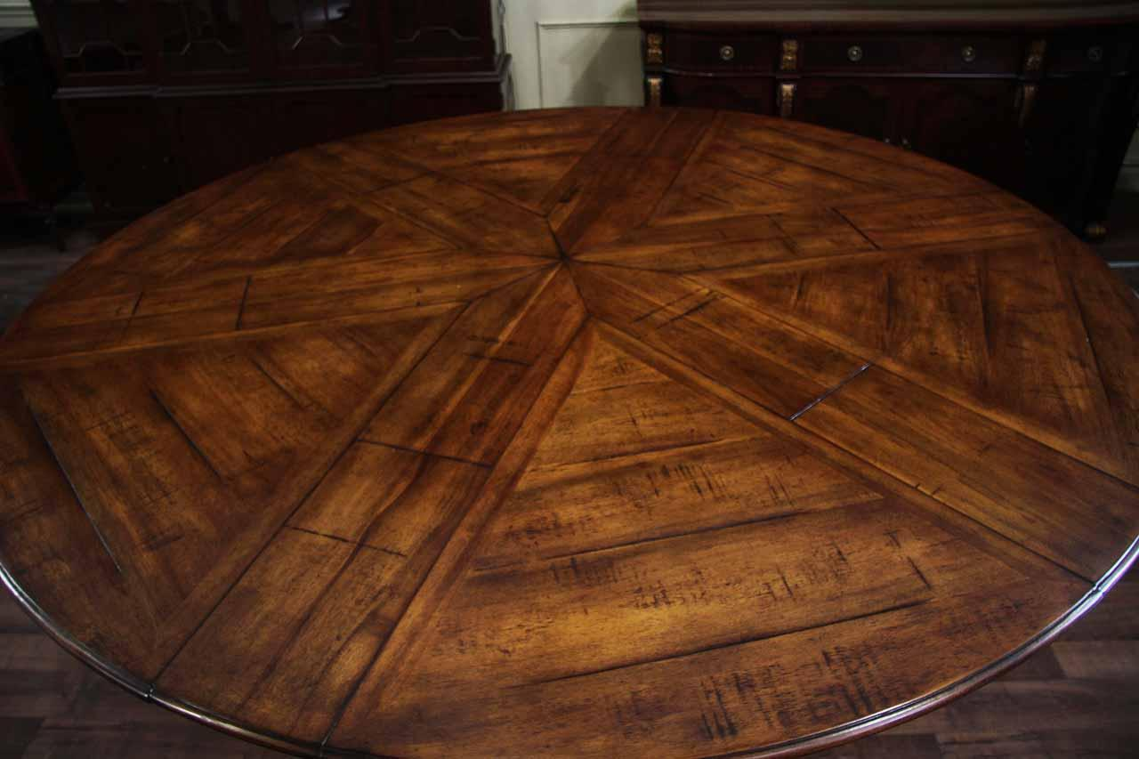 Large Dining Room Table Seats 10 Jupe Table Extra Large Round Solid Walnut Round Dining Table