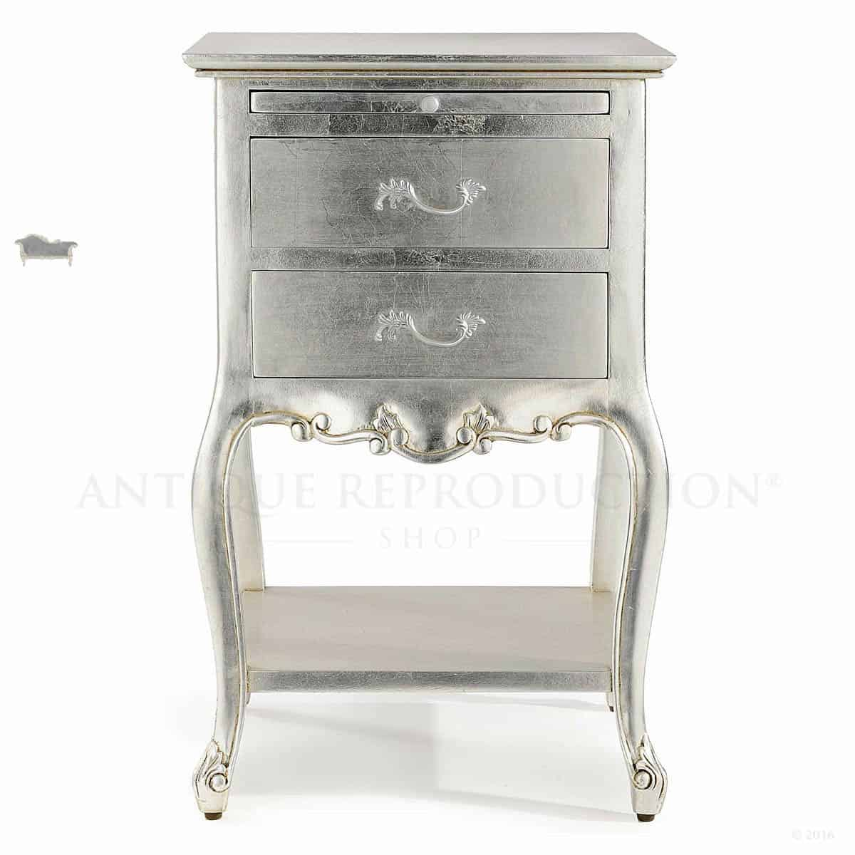 Provincial Bedside Tables 2 Draw Louis French Provincial Bedside Nightstand Antique