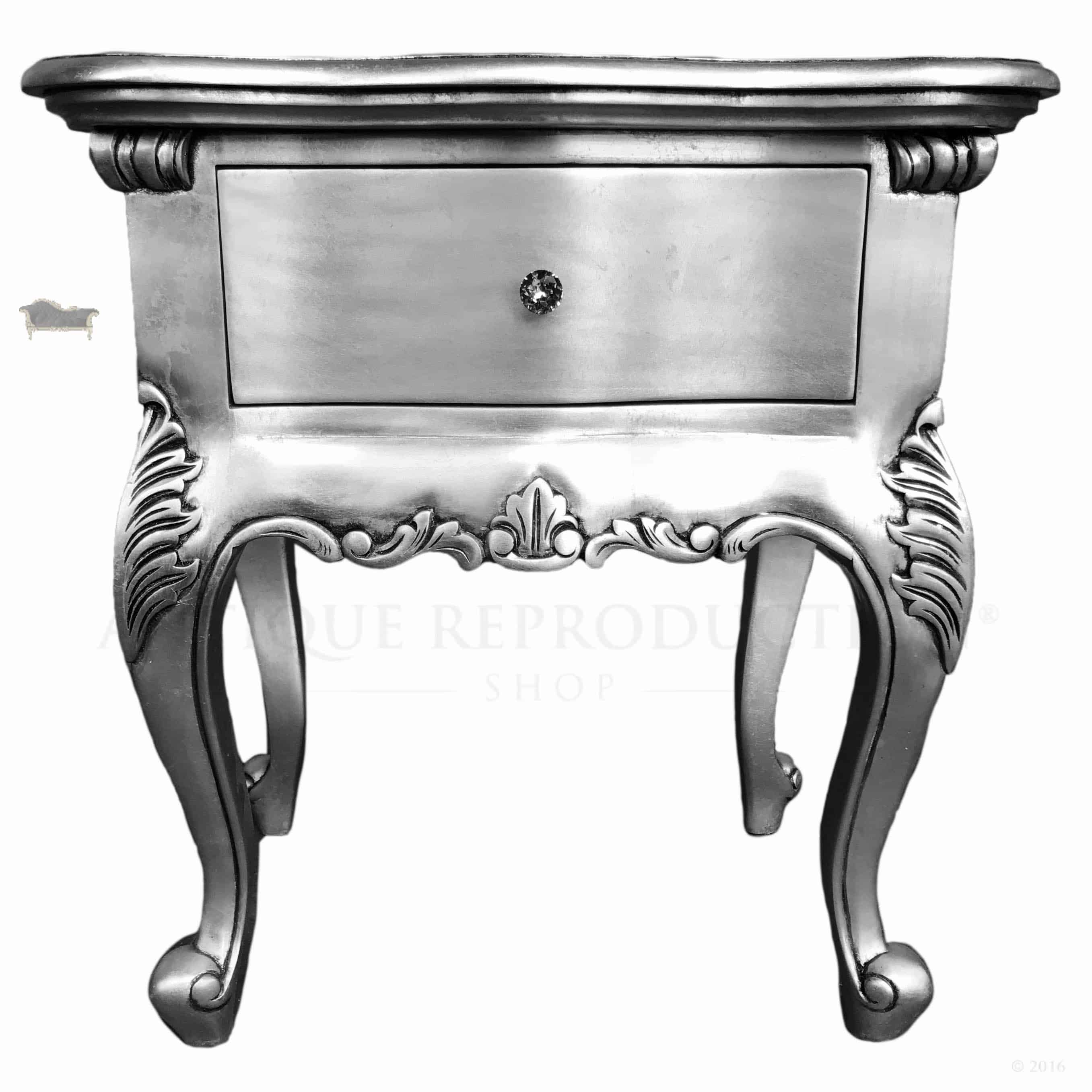 Antique Bedside Tables Antique Silver French Bedside Table 1 Drawer Antique