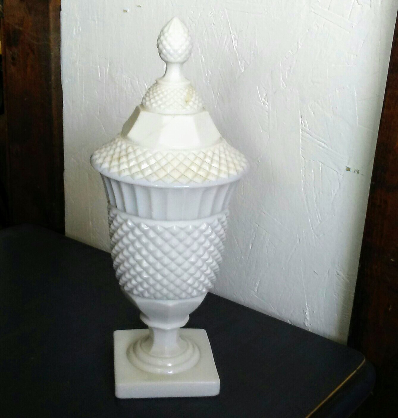 Decorative Milk Urn Milk Glass Jar Vintage Milk Glass Milk Glass Urn