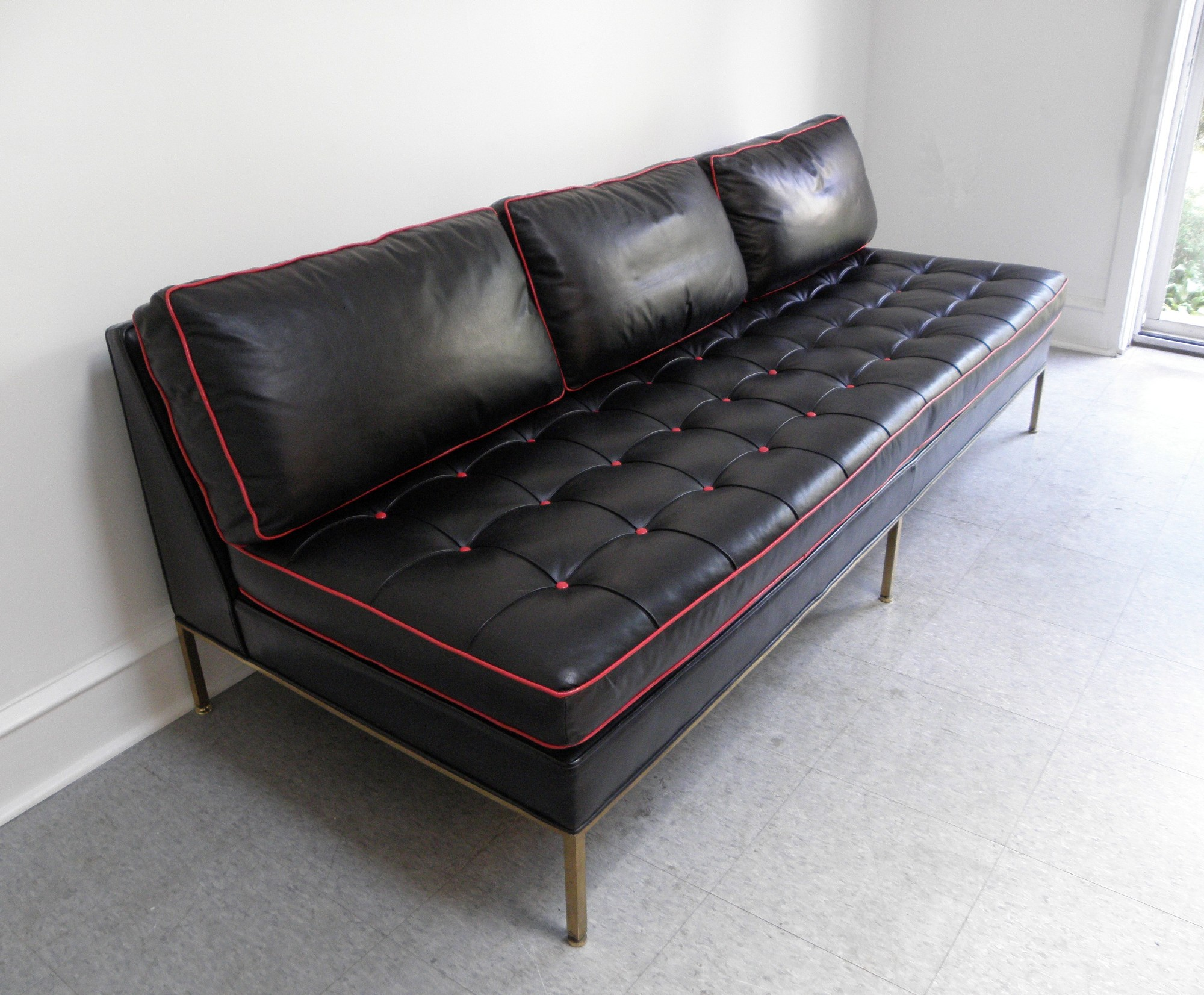 Sofa Sale Harveys Harvey Probber Mid Century Modern Brass And Leather Day Bed Sofa