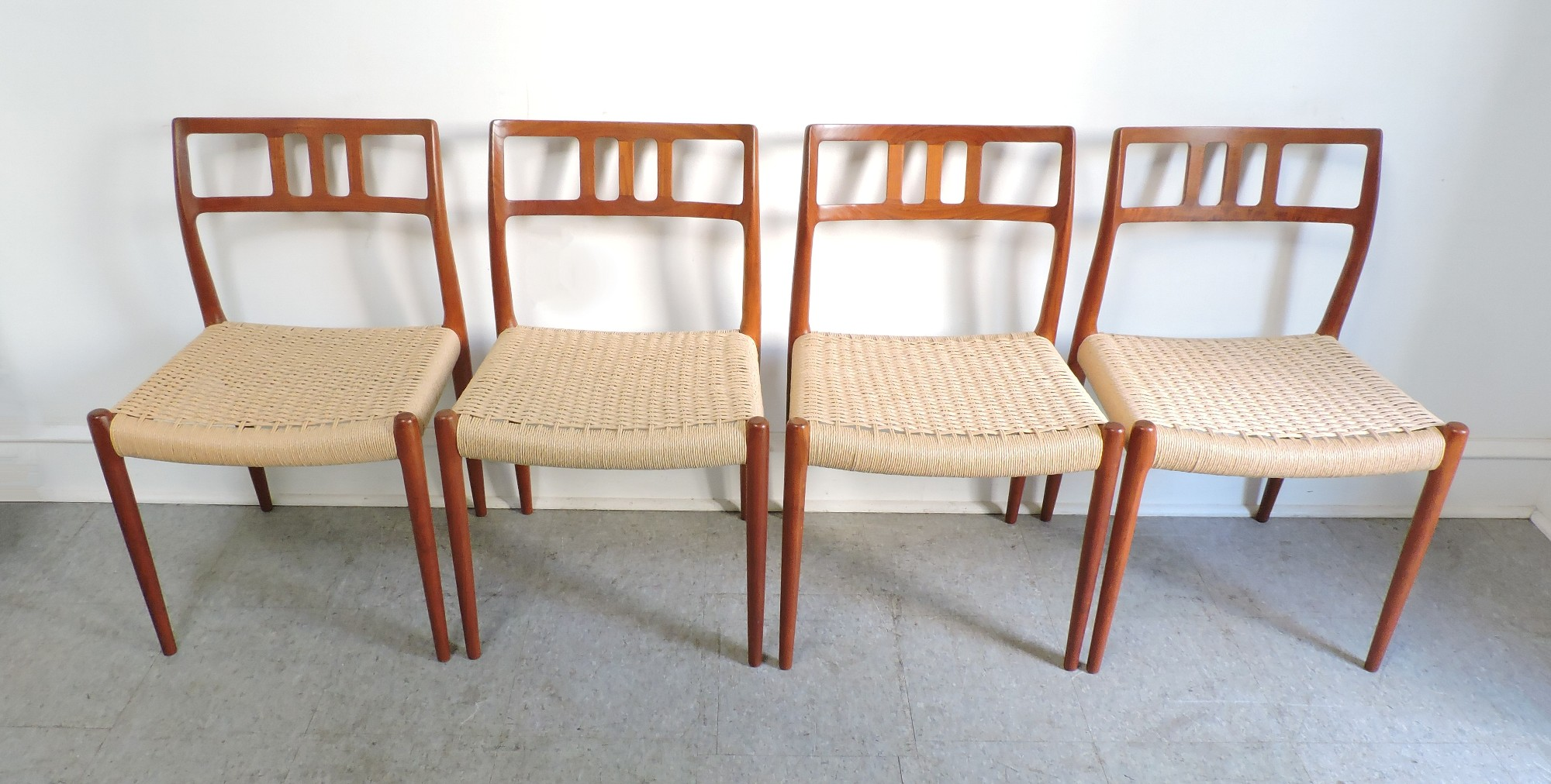 Danish Modern Dining Chairs For Sale Set Of 4 Danish Modern Niels Moller Teak Dining Chairs 79 For
