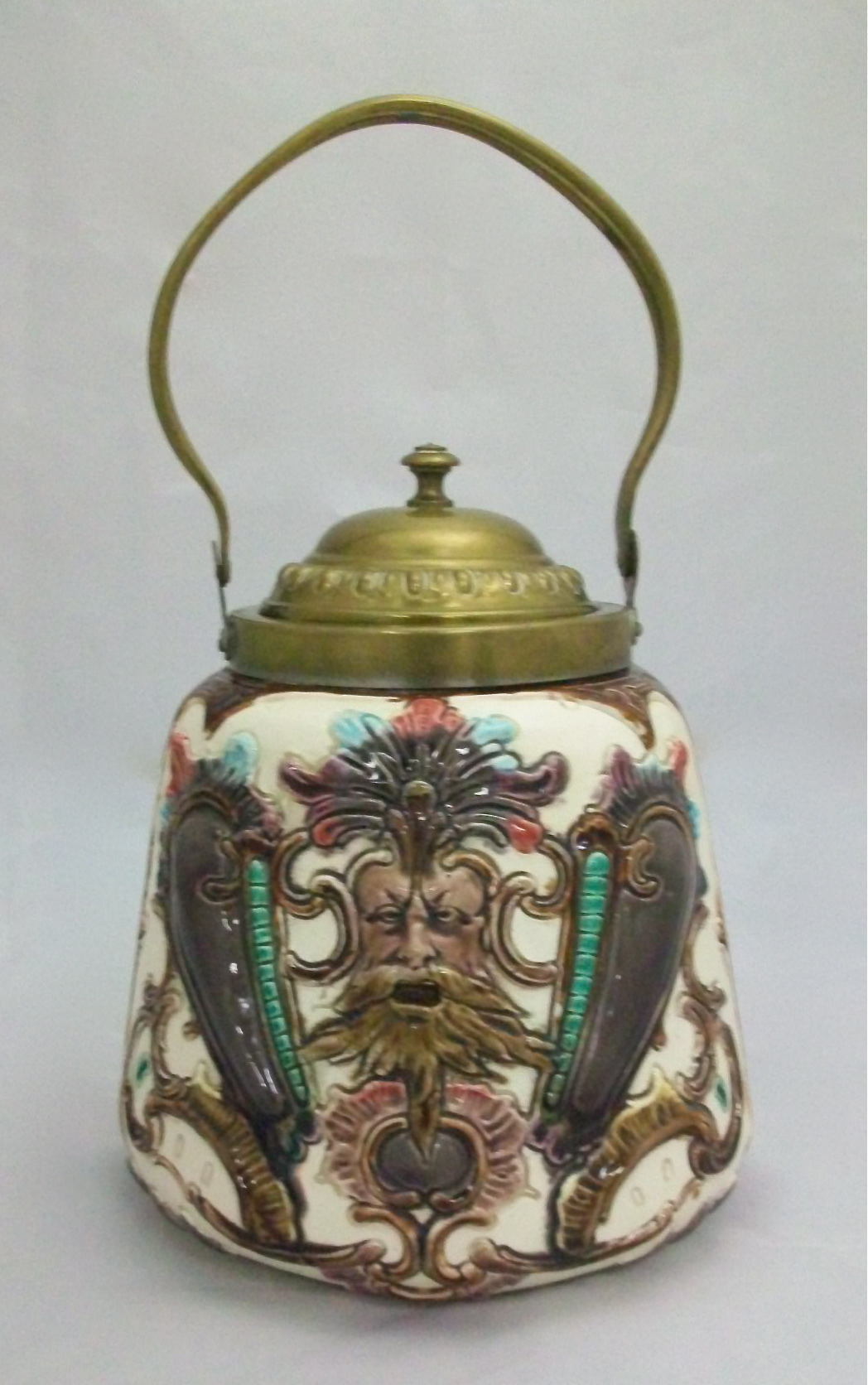 Jars On Sale Majolica Cracker Jar For Sale Antiques Classifieds
